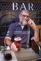 Enjoying a pint, Bath, UK, October 5, 2007. The city of Bath is famed for it's hot springs (the only in the UK) and it's Georgian architecture. The city is a UNESCO World Heritage Site.