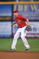 Harrisburg Senators second baseman Cutter Dykstra (7) during a game against the New Hampshire Fisher Cats on July 21, 2015 at Metro Bank Park in Harrisburg, Pennsylvania.  New Hampshire defeated Harrisburg 7-1.  (Mike Janes/Four Seam Images)