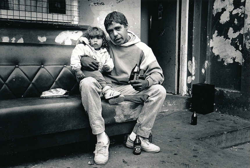 """""""The Block"""", Eveleigh Street Redfern Inner City Sydney Australia. This area was under the control of the Aboriginal Housing Company following purchases made possible with a grant from the Whitlam Government.A group of the original squatters got together to from the company in 1973..PIC JAYNE RUSSELL..Undated Image take pre 1988."""