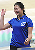 Joyce Lin of Port Washington reacts after making spare in a girls bowling league match against Garden City at Herrill Lanes in New Hyde Park on Monday, Dec. 19, 2016. She bowled a personal-best 205 in the first of her three-game series.