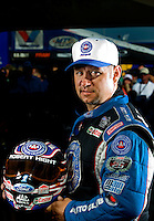 Sept. 19, 2010; Concord, NC, USA; NHRA funny car driver Robert Hight poses for a portrait during the O'Reilly Auto Parts NHRA Nationals at zMax Dragway. Mandatory Credit: Mark J. Rebilas for ESPN the Magazine