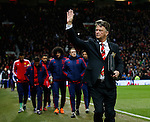Louis van Gaal manager of Manchester United waves to the fans - English Premier League - Manchester Utd vs Chelsea - Old Trafford Stadium - Manchester - England - 28th December 2015 - Picture Simon Bellis/Sportimage