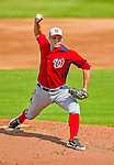 23 February 2013: Washington Nationals pitcher Craig Stammen on the mound during a Spring Training Game against the New York Mets at Tradition Field in Port St. Lucie, Florida. The Mets defeated the Nationals 5-3 in their Grapefruit League Opening Day game. Mandatory Credit: Ed Wolfstein Photo *** RAW (NEF) Image File Available ***