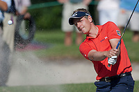November 14, 2010: Luke Donald of England hits out of the green side bunker on 17 of the Magnolia course during third round golf action from The Children's Miracle Network Hospitals Classic held at The Disney Golf Resort in Lake Buena Vista, FL.