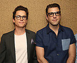 Matt Bomer and Zachary Quinto attend Broadway's 'Boys in the Band' hosted Midnight Performance of 'Three Tall Women' to Honor Director Joe Mantello at the Golden Theatre on May 17, 2018 in New York City.