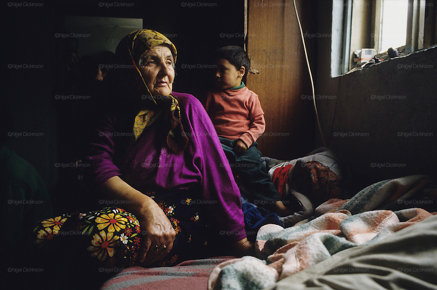 Muslim Roma trapped between the frontlines during the Bosnia Wars in the early nineties, supporting neither one side nor other, they were rejected by both. Near Vitez, Bosnia 1994
