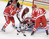Josh Lyons (BU - 6), Donald Carnicky (BC - 12), Justin Lundy (BU - 39), Austin Gates (BU - 76) - The Boston College Eagles defeated the visiting Boston University Terriers 6-2 in ACHA play on Sunday, December 4, 2011, at Kelley Rink in Conte Forum in Chestnut Hill, Massachusetts.
