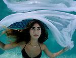 Young girl in pool, black bikini, underwater photography, underwater Model.Alexa Smith