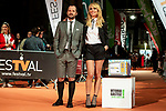 Angel Martin and Patricia Conde attends to orange carpet of new comedian schedule of #0 during FestVal in Vitoria, Spain. September 06, 2018. (ALTERPHOTOS/Borja B.Hojas)