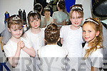 Rachel Boyle, Holly Barrett, Meagan O'Boyle and Anna Lee O'Mahony look at Katie O'Sullivan new hair style at Killarney Hair Studio