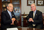 United States Senator Chuck Grassley (Republican of Iowa) meets United States Representative Tom Price (Republican of Georgia), US President-elect Donald J. Trump's selection to be US Secretary of Health and Human Services (HHS), in his Capitol Hill office in Washington, DC on Thursday, December 8, 2016.<br /> Credit: Ron Sachs / CNP