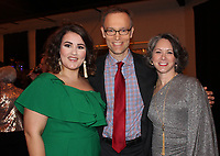 NWA Democrat-Gazette/CARIN SCHOPPMEYER Grace Cleghorn (from left), Paul Haas SoNA music director and Marybeth Hays visit at the Spring Gala.