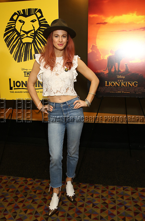 "Teal Wicks attends the Broadway screening of the Motion Picture Release of ""The Lion King"" at AMC Empire 25 on July 15, 2019 in New York City."