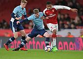 16/04/2018 Arsenal v Blackpool FAYC Semi 2L<br /> <br /> Dylan Sumner challenges