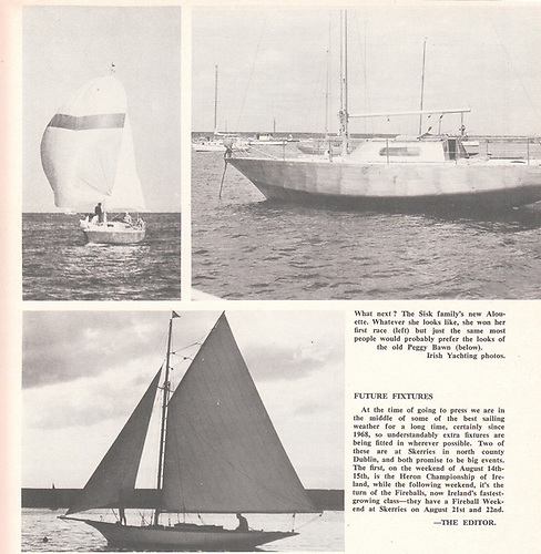 Sisk family's new Half Tonner Alouette de Mer, and the 1894-built Peggy Bawn
