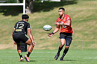 William TUPOU (ウィリアム・トゥポウ) in action during the Hurricanes Hinters v Wolfpack at Jerry Collins Stadium, Porirua, New Zealand on Friday 29 March 2019. <br /> Photo by Masanori Udagawa. <br /> www.photowellington.photoshelter.com