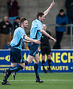Forfar's Chris Templeman (9) celebrates after he scores their first goal.