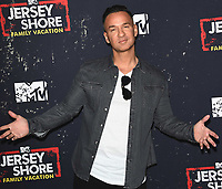 "WEST HOLLYWOOD, CA - MARCH 29:  Mike Sorrentino at the ""Jersey Shore Family Vacation"" Global Premiere at HYDE Sunset: Kitchen + Cocktails on March 29, 2018 in West Hollywood, California. (Photo by Scott KirklandPictureGroup)"