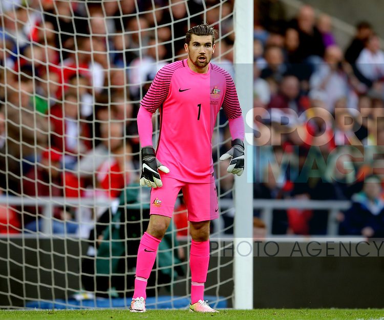 Mathew Ryan of Australia during the International Friendly match at the Stadium of Light, Sunderland. Photo credit should read: Simon Bellis/Sportimage