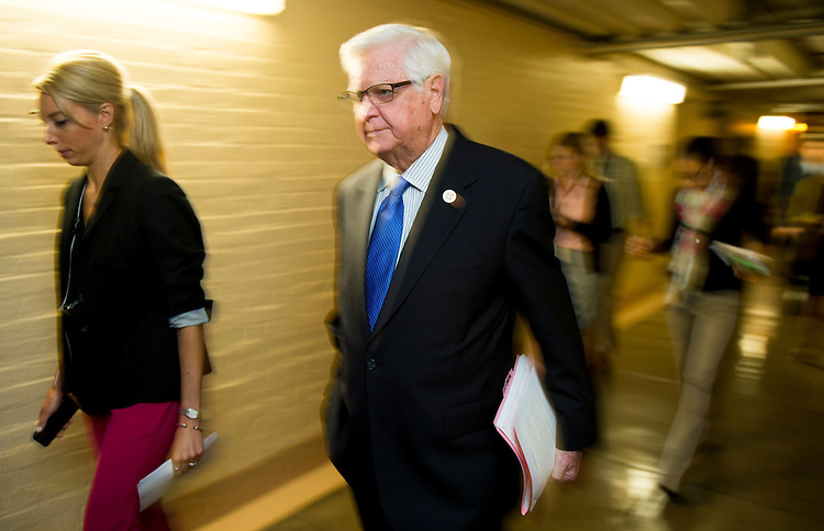 UNITED STATES - JULY 29: House Appropriations chairman Harold Rogers, R-Ky., leaves the House Republican Conference meeting in the basement of the Capitol on Tuesday, July 29, 2014. (Photo By Bill Clark/CQ Roll Call)