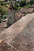 Europe/France/Midi-Pyrénées/32/Gers/La Romieu: Tour du Cardinal, c'est le seul vestige du Palais du Cardinal d'Aux -Patrimoine mondial UNESCO
