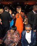George Lucas and Lenny Kravitz in the audience at the NAACP Awards, Shrine Auditorium, Los Angeles.<br />