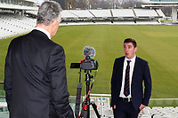 Daniel Lawrence of Essex CCC is interviewed prior to the Lord's Taverners Presentation at Lord's Cricket Ground on 12th March 2018