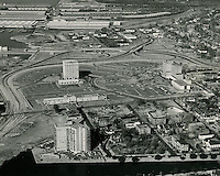 1964 January 19..Redevelopment.Atlantic City (R-1)..EVMS Medical School campus.Lamberts Point Docks in background..VU Photos.NEG# 228.NRHA# 1080..