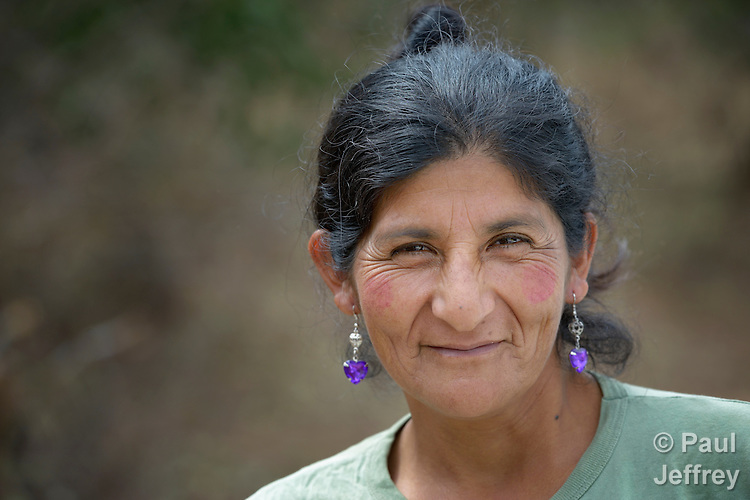 A Guarani indigenous woman in Choroquepiao, a small village in the Chaco region of Bolivia, where residents have started family gardens with assistance from Church World Service, supplementing their corn-based diet with nutritious vegetables and fruits.