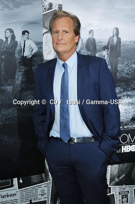Jeff Daniels at the NewsRoom Season 2 Premiere on the Paramount Lot in Los Angeles.