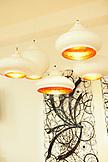 VIETNAM, Saigon, Ho Chi Minh City, ceiling lamps and wall art on display at the Gaya Design Showroom, 1 Nguyen Van Trang, District 1