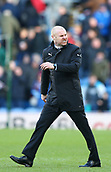 2nd February 2019, Turf Moor, Burnley, England; EPL Premier League football, Burnley versus Southampton; Burnley manager Sean Dyche shows his displeasure with the Ref at half time