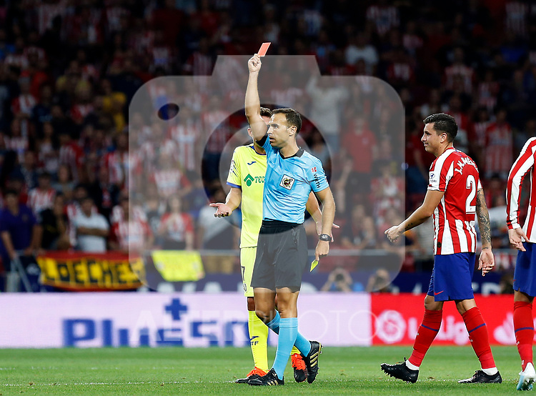 referee Cuadra Fernandez during La Liga match. Aug 18, 2019. (ALTERPHOTOS/Manu R.B.)referee Cuadra Fernandez  during the Spanish La Liga match between Atletico de Madrid and Getafe CF at Wanda Metropolitano Stadium in Madrid, Spain