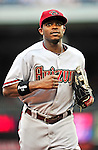 15 August 2010: Arizona Diamondbacks right fielder Justin Upton in action against the Washington Nationals at Nationals Park in Washington, DC. The Nationals defeated the Diamondbacks 5-3 to take the rubber match of their 3-game series. Mandatory Credit: Ed Wolfstein Photo