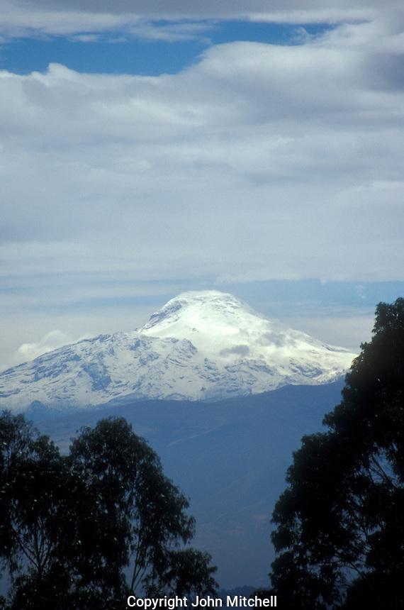 Cotopaxi volcano as seen from the city of Quito, Ecuador