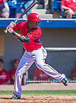 9 March 2014: Washington Nationals outfielder Eury Perez in action during a Spring Training game against the St. Louis Cardinals at Space Coast Stadium in Viera, Florida. The Nationals defeated the Cardinals 11-1 in Grapefruit League play. Mandatory Credit: Ed Wolfstein Photo *** RAW (NEF) Image File Available ***