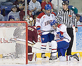 Cory Schneider, Danny O'Brien, Elias Godoy - The Boston College Eagles defeated the University of Massachusetts-Lowell River Hawks 4-3 in overtime on Saturday, January 28, 2006, at the Paul E. Tsongas Arena in Lowell, Massachusetts.