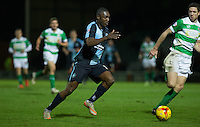 Anthony Stewart of Wycombe Wanderers heads forward during the Sky Bet League 2 match between Yeovil Town and Wycombe Wanderers at Huish Park, Yeovil, England on 24 November 2015. Photo by Andy Rowland.
