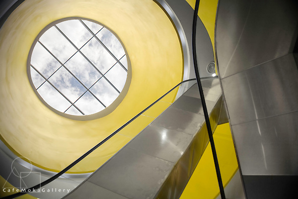 Curving shapes and skylight of a Contemporary architecture-  Shopping Mall - Blue Coral, St Lucia