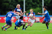Devon Holt of Great Britain in action. FISU World University Championship Rugby Sevens Women's 5th/6th place match between Great Britain and Italy on July 9, 2016 at the Swansea University International Sports Village in Swansea, Wales. Photo by: Patrick Khachfe / Onside Images