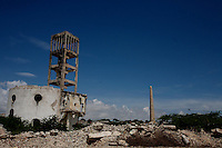the ruins of italian colonial buildings and monuments lie  in northen Mogadishu, Somalia on tuesday November 21 2006..Mogadishu, after 15 years of anarchy is now under the strong fist of the supreme Islamic Courts. Islamist militias are patrolling the streets keeping the city gun less.