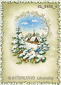 Interlitho, CHRISTMAS SANTA, SNOWMAN, nostalgic, paintings, landscape, birds(KL2458/4,#X#) Weihnachten, nostalgisch, Navidad, nostálgico, illustrations, pinturas