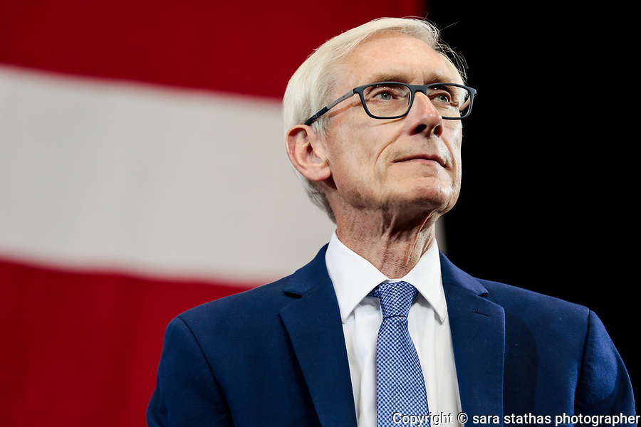 Wisconsin's Gubernatorial candidate Tony Evers attends a Democratic rally before the midterm elections in October 2018 in Milwaukee, Wisconsin.