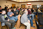 MIDDLEBURY, CT- 6 November 2014-110614EC07--   About 50 people, mostly those involved in the Middlebury Fire Department, attend a meeting at the fire house Thursday night after Paul Perrotti's arrest on embezzlement charges. Erin Covey Republican-American