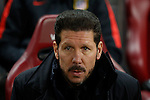 Atletico de Madrid´s coach Diego Pablo Simeone during 2015-16 La Liga match between Atletico de Madrid and Real Sociedad at Vicente Calderon stadium in Madrid, Spain. March 01, 2016. (ALTERPHOTOS/Victor Blanco)
