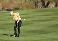2nd February 2020, TPC Scottsdale, Arizona, USA;  Webb Simpson hits an approach shot on the second fairway during the final round of the Waste Management Phoenix Open