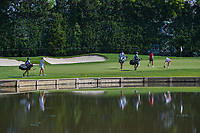 Sarah Jane Smith (AUS), Lindy Duncan (USA), and Luna Sobron Galmes (ESP) approach the green on 3 during round 1 of the 2018 KPMG Women's PGA Championship, Kemper Lakes Golf Club, at Kildeer, Illinois, USA. 6/28/2018.<br /> Picture: Golffile | Ken Murray<br /> <br /> All photo usage must carry mandatory copyright credit (&copy; Golffile | Ken Murray)