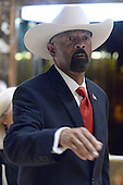 Sheriff David Clarke of Milwaukee County, Wisconsin, is seen leaving the Trump Tower in New York, New York, on November 28, 2016. <br /> Credit: Anthony Behar / Pool via CNP