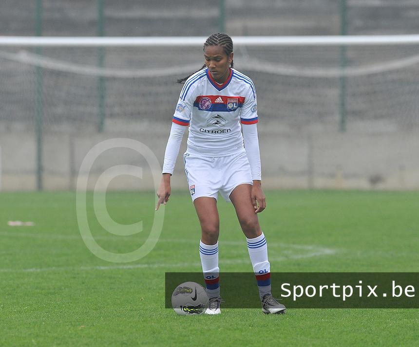 1/2 finale Coupe De France in Arras , stade Degouve : Arras - Olympique Lyonnais Lyon : Wendie Renard.foto JOKE VUYLSTEKE / Vrouwenteam.be