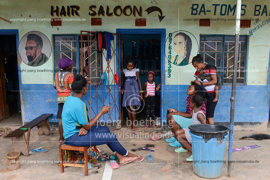 ZAMBIA, Sinazongwe beauty parlour and hair cutting